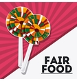 candy fair food snack carnival icon vector image vector image