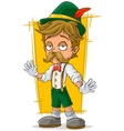 Cartoon Bavarian in hat with mustache vector image vector image