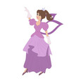 cartoon fairy dancing in beauty drees vector image vector image