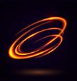 circular lens flare vector image