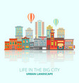 city buildings poster vector image
