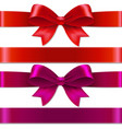 color bows vector image vector image