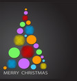 colorful christmas tree with decor balls for your vector image vector image