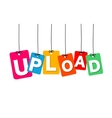 colorful hanging cardboard Tags - upload vector image vector image