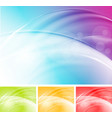 Colourful waves abstract design vector image vector image