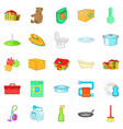 comfy icons set cartoon style vector image vector image