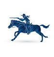 cowboy riding horseaiming rifle vector image vector image