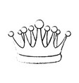 crown kindom royalty luxury icon vector image vector image