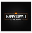 diwali culture festival logo design vector image