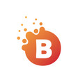 dots letter b logo b letter design with dots vector image vector image