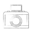 drawing photo camera flash lens button vector image vector image