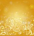 elegant christmas gold background vector image vector image