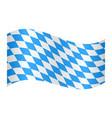flag of bavaria waving on white background vector image