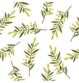 floral seamless pattern with branches of laurel vector image vector image