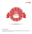 food icons - red ribbon banner vector image