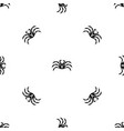 fresh live crab pattern seamless black vector image vector image