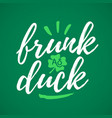 frunk as duck handdrawn dry brush style lettering vector image vector image