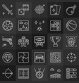 game outline concept icons videos games linear vector image