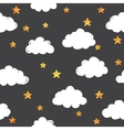 Gold pattern with clouds vector image vector image