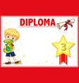 grade three diploma certificate template vector image