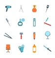 Hairdresser icon set flat vector image vector image