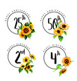 happy anniversary and birthday logo vector image