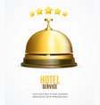 hotel reception service banner with realistic vector image vector image