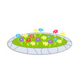 icon sepicting colorful flowerbed cartoon vector image vector image