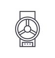 industrial valve line icon sig vector image vector image