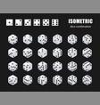 Isometric dice set isometric dice combination