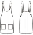 Jean overall dress Front and back vector image vector image