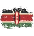 Kenyan grunge flag vector image vector image