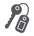 key glyph icon close and safety unlock sign vector image vector image