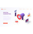 landing page for digital marketing vector image vector image