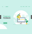 landing page template review concept vector image vector image