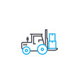 loading work linear icon concept loading work vector image vector image