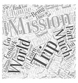 mission trips Word Cloud Concept vector image vector image