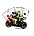 motorcyclist on a motorcycle vector image vector image