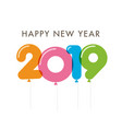 new-year-2019-colorful-balloons vector image
