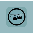 Pale blue sushi sign vector image