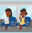 people traveling by public transport vector image vector image