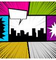 pop art comic book colored backdrop