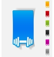 realistic design element dumbbell vector image