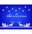 Santa Claus paper silhouette blue background vector image vector image