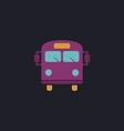 School Bus computer symbol vector image vector image