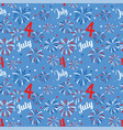 seamless pattern with fireworks national vector image
