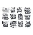 set back to school lettering handwritten vector image vector image
