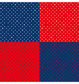 Set Navy Blue Red Star Polka dot vector image vector image