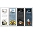 set of beer labels vector image vector image
