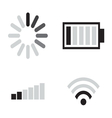 Set of connection icons vector image vector image